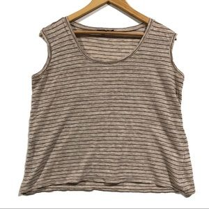 Michael Stars Striped Linen Tank (e)